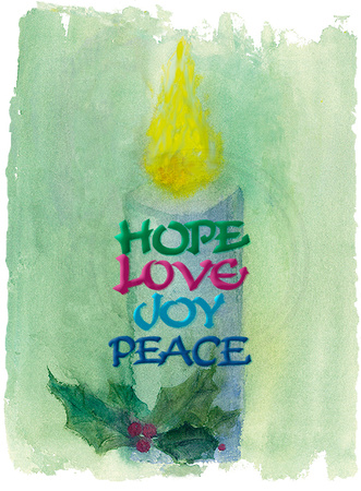 Candle• Hope, Love, Joy, Peace